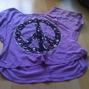 Girls Size L Justice Purple crop top